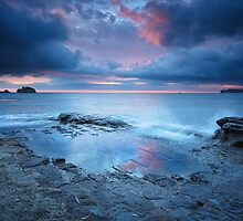 Tessellated Pavement Sunrise, Eaglehawk Neck, Tasmania #11 by Chris Cobern