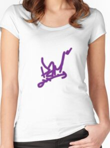 Pam Poovey Graffiti Women's Fitted Scoop T-Shirt