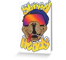 SHRED HEADS Greeting Card