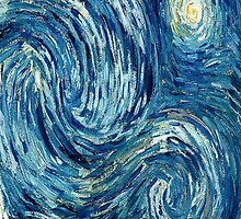 Detail of Vincent Van Gogh's Starry Night (1889) by Itsjustmelissa