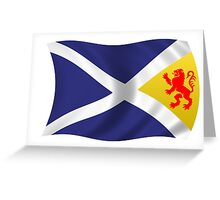 combined scotland flag Greeting Card