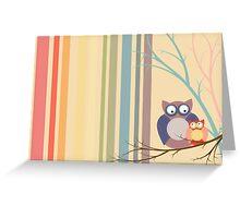 Retro vintage owls Greeting Card