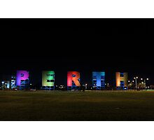 Perth Sign Photographic Print