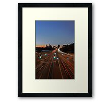 The Causeway At Sunset  Framed Print