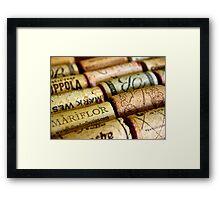 Wine Cork Photography Framed Print