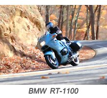 BMW RT-1100 - Digital Painting by William  Israelson