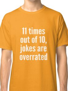 Overrated - Statistics - White Classic T-Shirt