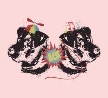 Funny dogs propeller beanie versus earphones Kids Clothes