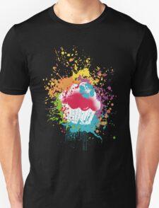 Grunge rainbow cupcake paint bomb Unisex T-Shirt