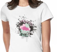 Molotov baker grunge cupcake paint bomb Womens Fitted T-Shirt