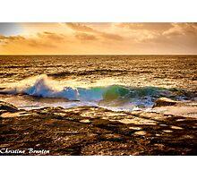 Sunrise wave Photographic Print