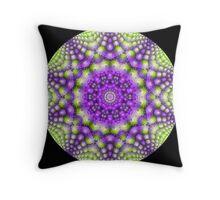 Broccoli Kaleidoscope   Throw Pillow