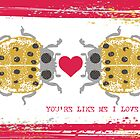 I love you ladybugs love bugs valentine by BigMRanch