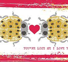 I love you ladybugs love bugs valentine by BigMRanch
