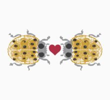 I love you ladybugs love bugs valentine Kids Clothes