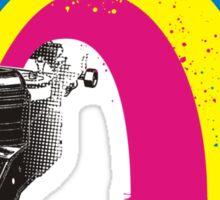 vintage typewriter kitschy retro rainbow Sticker
