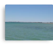 Round to Outer Harbor, from Semaphore Jetty, Adelaide coast, S.A. Canvas Print