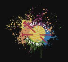Molotov knitter knitting needles rainbow paint bomb by BigMRanch