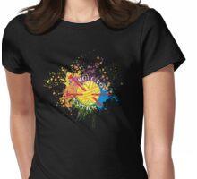 Molotov knitter knitting needles rainbow paint bomb Womens Fitted T-Shirt