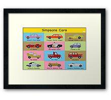 Simpsons Cars (Landscape) Framed Print