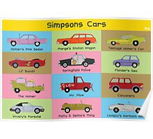 Simpsons Cars (Landscape) Poster