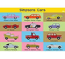 Simpsons Cars (Landscape) Photographic Print