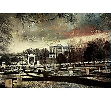 View of a Graveyard Photographic Print