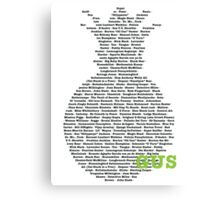 Gus's Nicknames 2 (Psych) Canvas Print