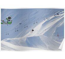 Freestyle Skiing in Kaprun Austrian Poster