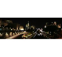 Rideau Canal Reflections with the Ottawa Skyline Part 2 Photographic Print