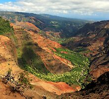 Waimea Canyon From The West by James Eddy