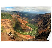 Waimea Canyon From The West Poster