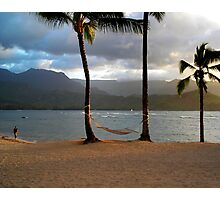 Hammock At Hanalei Bay Photographic Print