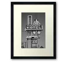 Route 66 - Cowboy Motel Framed Print