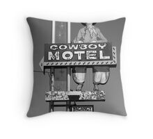 Route 66 - Cowboy Motel Throw Pillow
