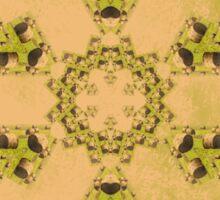 Kaleidoscope of Hay bales in a rural field Sticker