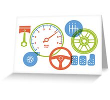 Car parts for kids who love cars Greeting Card