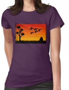 Duck Hunting Womens Fitted T-Shirt