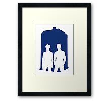 Two Doctors. One Tardis.  Framed Print