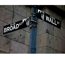 Broad and Wall Street Photographic Print