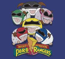 Mighty Morphin' Poro Rangers! by grackken
