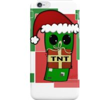 Minecraft Christmas Creeper  iPhone Case/Skin