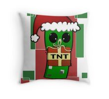 Minecraft Christmas Creeper  Throw Pillow