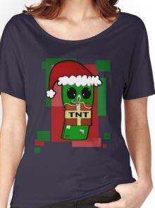 Minecraft Christmas Creeper  Women's Relaxed Fit T-Shirt