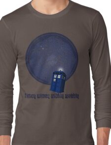 timey wimey wibbly wobbly Long Sleeve T-Shirt