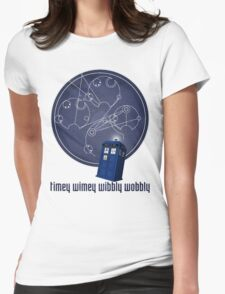timey wimey wibbly wobbly Womens Fitted T-Shirt