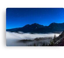 Full Moon Night Skies Canvas Print