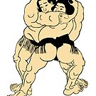 sumo wrestling of Japan by nadil