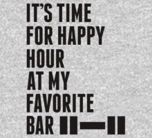 Its Time For Happy Hour At My Favorite Bar - Workout Shirt by J B