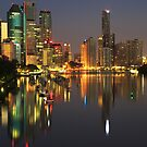 Brisbane Reflections PreDawn by Steve Bass